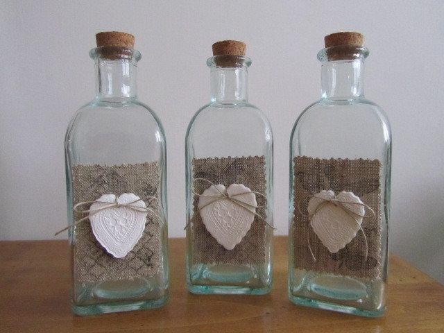Bottiglie in stile French chic