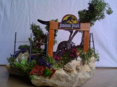 diorama jurassic park