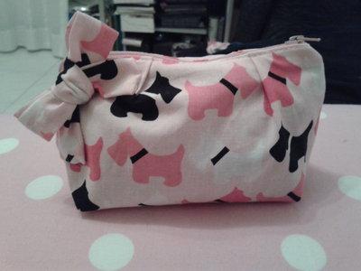 Astuccio in stoffa di cotone con stampa cagnolini