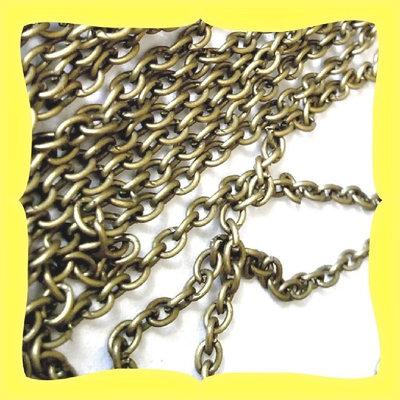 1metro catena bronzo sottile