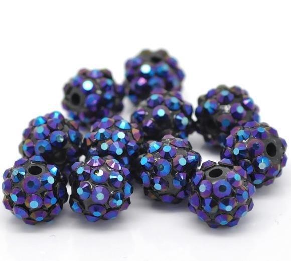 sfere in resina+acrilico blu 12 mm scontato
