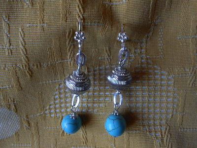 orecchini con turchese