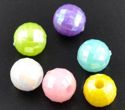 30 perline 6 mm colori misti