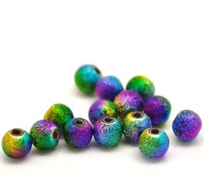 10 Multicolore Distanziatori Perle Stardust in Acrilico 6mm scontato