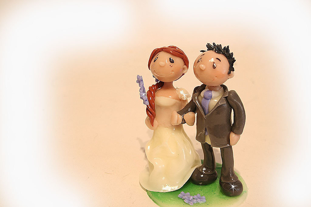 Wedding cake topper in pronta consegna, 100% fatto a mano.