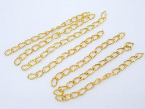 10 estensioni catenella dorati lunghezza 50x3mm