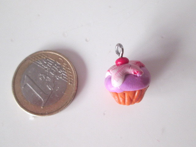 Ciondolo charms in fimo CUPCAKE TORTINA DOLCETTO