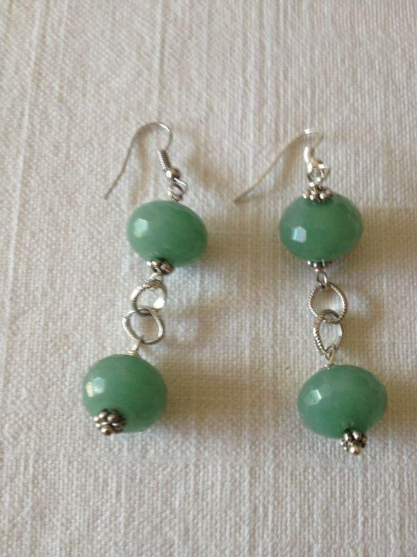 Orecchini con pietre dure quarzo cetrino verde gioielli for Orecchini con pietre dure fai da te