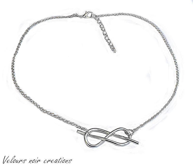 collana nodo savoia nodo d'amore infinito wire