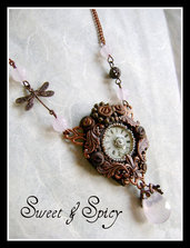 COPPER STEAMPUNK NECKLACE-COLLANA STEAMPUNK RAMATA