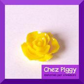 1 cabochon a forma di fiore - GIALLO