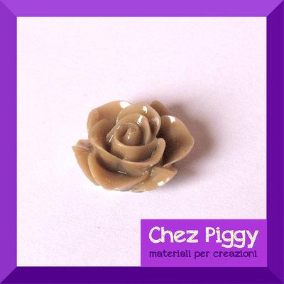 1 cabochon a forma di fiore - CAPPUCCINO