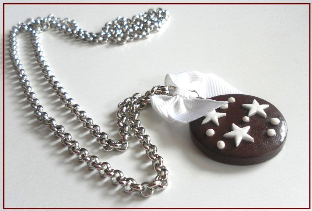 """Collana biscotto """"pan di stelle"""""""
