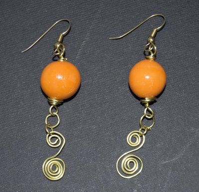 Orecchini wire arancio