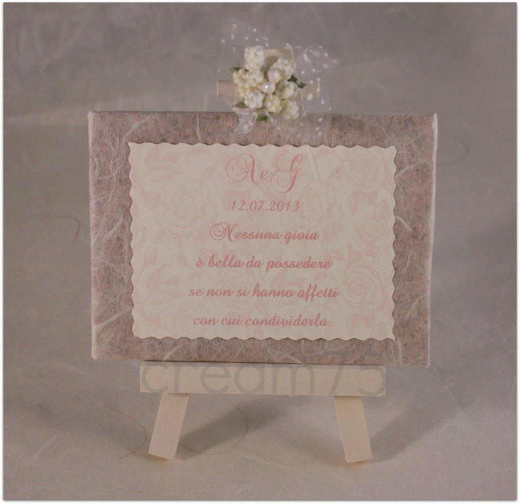 Fabuleux Mini cavalletto rose rosa segnatavolo sposi matrimonio bomboniere  UJ83