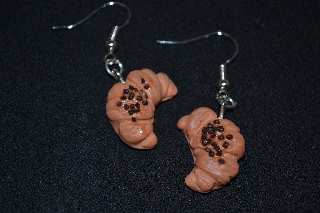 orecchini in fimo brioche cioccolato