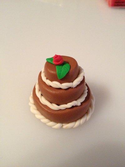 """Torta in fimo """"cioccolato e rose"""""""