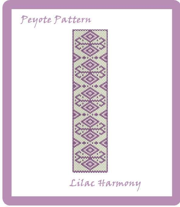 "Schema peyote per bracciale ""Lilac Harmony"""