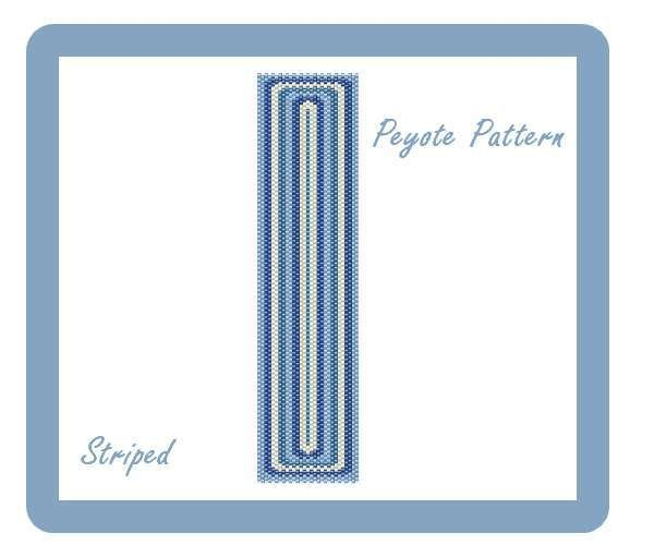 "Schema peyote per bracciale ""Striped"""