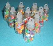 Bottigliette di vetro ripiene con tappo forato in plastica^^