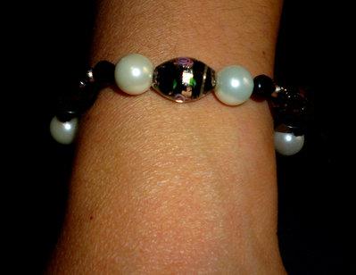 Bracciale perle cristallo
