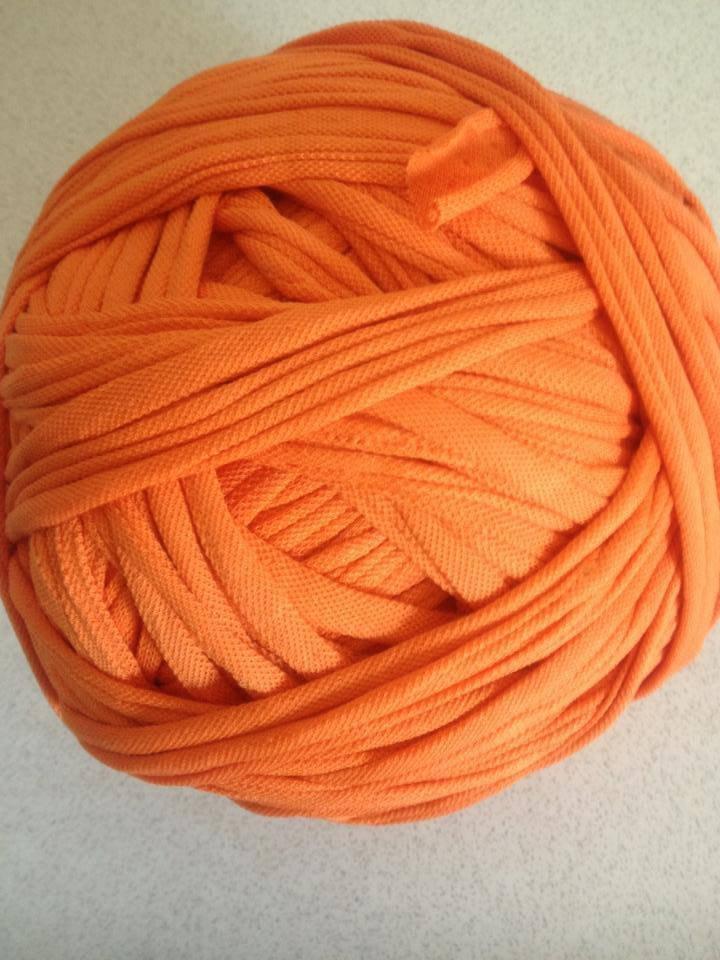 Fettuccia cotone piquet arancio
