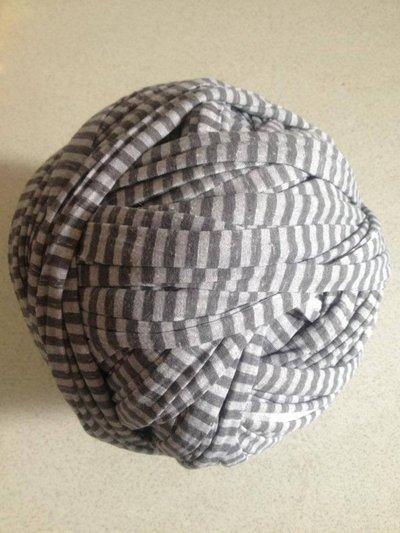 Fettuccia cotone grigio e ghiaccio