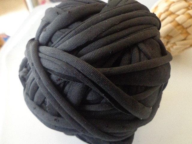 Fettuccia lycra nera per borse