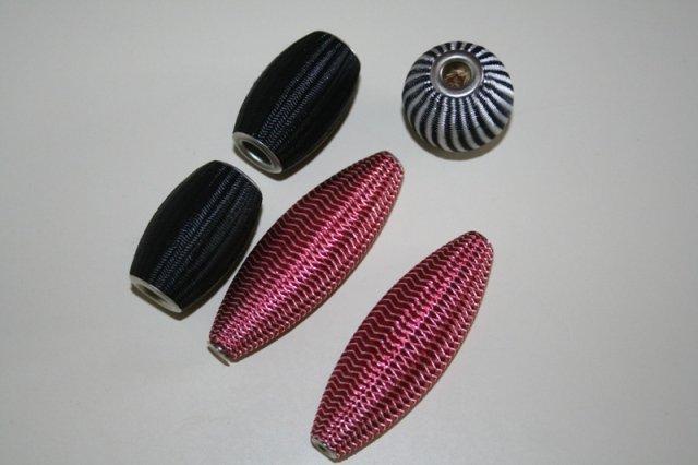 LOTTO UNICO 5 maxi perlone ricoperte di stoffa 2,30 euro