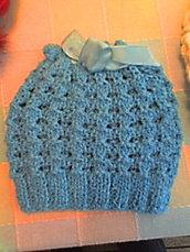 cappellino neonato (0-3) mesi di cotone azzurro
