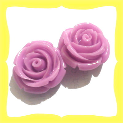 2 Rose forate 21mm violetto