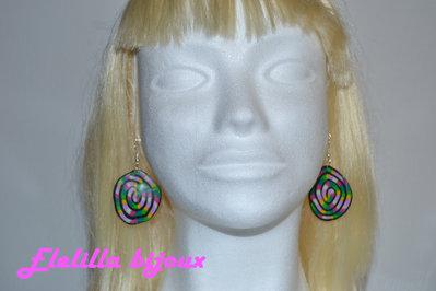 orecchini spirale arcobaleno