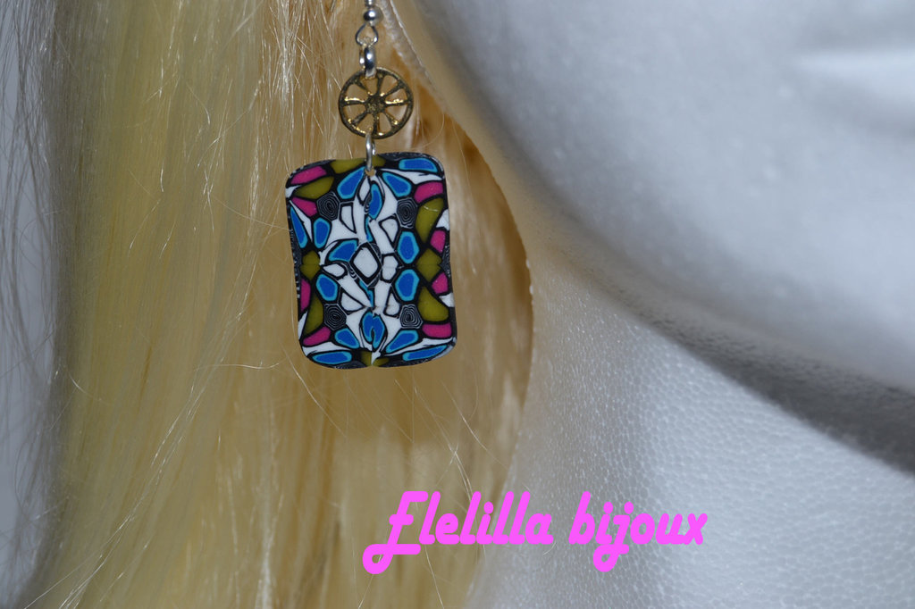 orecchini mosaico