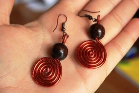 Orecchini Spirale Rossa