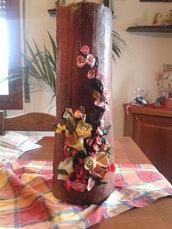 tegola con fiori in fimo