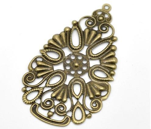 Filigrane bronzo crea orecchini fai da te bigiotteria materiali