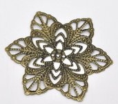 Filigrane bronzo crea orecchini fai da te bigiotteria materiali fiore