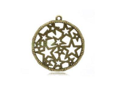 Filigrane bronzo crea orecchini fai da te bigiotteria materiali stelle