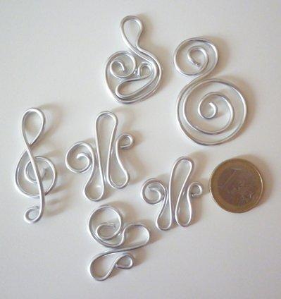 Charms ciondoli metallo basi per creare wire
