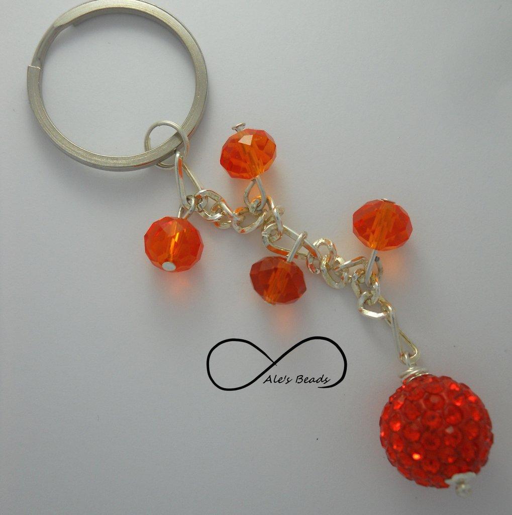 portachiavi strass arancione