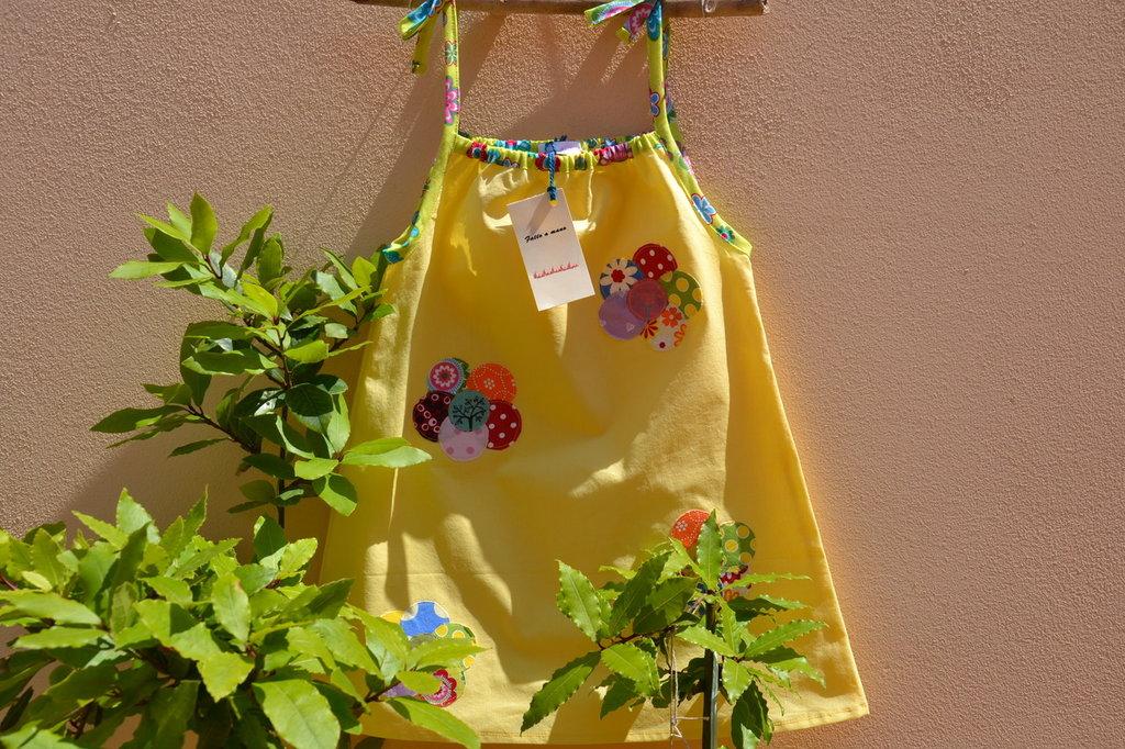 vestito bimba , cotone organico, modello margherita