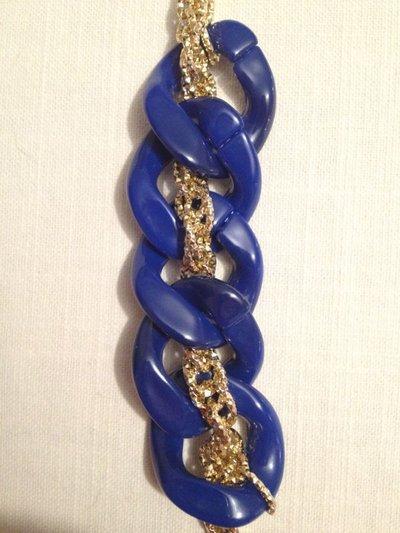 bracciale con catena resine e catena dorata