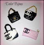 Ciondoli borse Chanel in miniatura realizzati a mano in fimo e cernit...