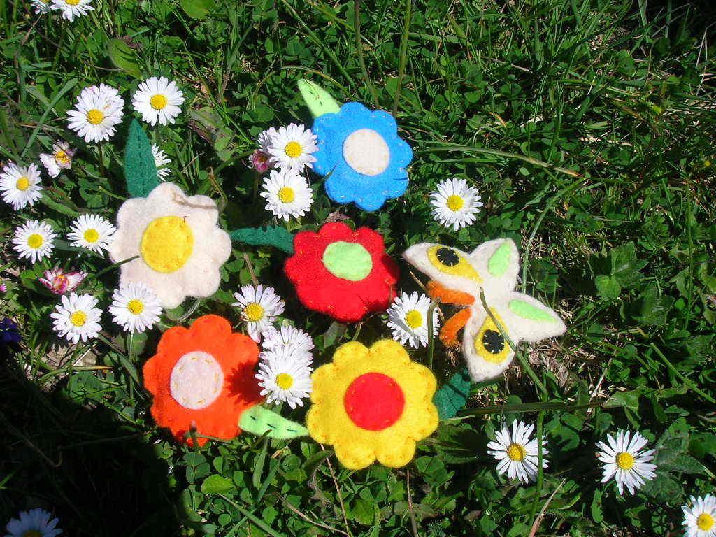 Fiori multicolor - fermagli e spille