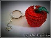 Amigurumi Apple Keychain..Portachiave Mela