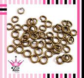STOCK 150 anelli anellini apribili bronzo antico 7mm TOP QUALITà x fimo e bijoux