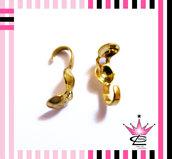 lotto STOCK 100 coprinodi colore oro per bijoux fimo bracciali e collane