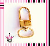 INTROVABILE Maxi moschettone colore oro 45x20mm x portachiavi borse fimo bijoux
