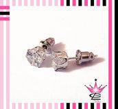 STOCK 10 pezzi orecchini a lobo con strass zircone cristallo taglio diamante