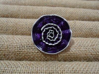 Anello rosellina viola